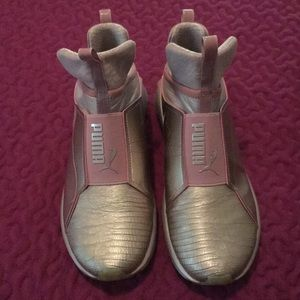 Puma rose gold shoes